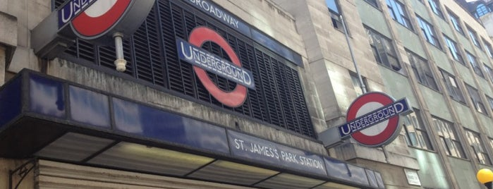 St. James's Park London Underground Station is one of Zone 1 Tube Challenge.