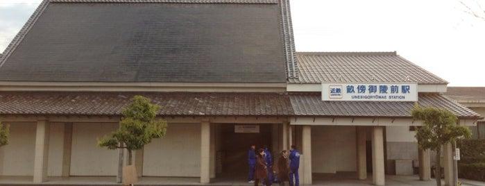 畝傍御陵前駅 (Unebigoryomae Sta.) is one of 近鉄橿原線.