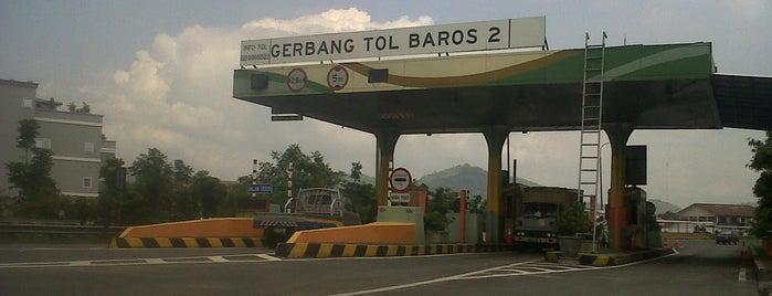 Gerbang Tol Baros 2 is one of Napak Tilas Perjalanan N9.
