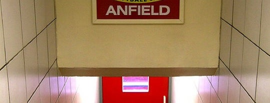 Anfield is one of Football grounds visited.