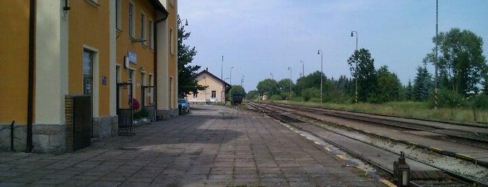 Železniční stanice Třeboň is one of Železniční stanice ČR: Š-U (12/14).
