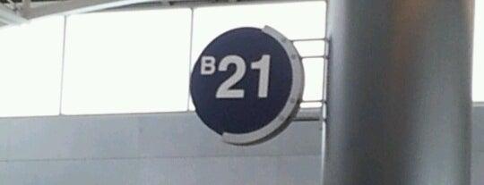 Gate B21 is one of Cincinnati Airport.