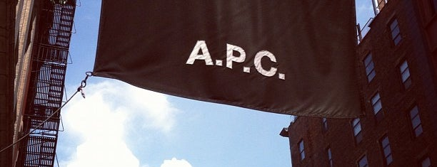 A.P.C. is one of nyc.