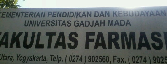 Fakultas Farmasi is one of UGM.