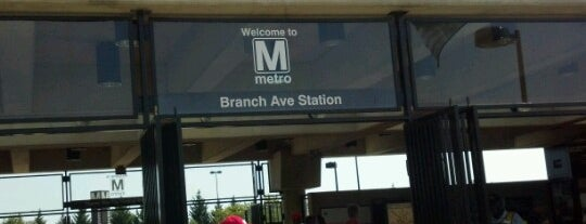 Branch Avenue Metro Station is one of WMATA Train Stations.