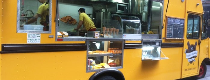 Wafels & Dinges - Vedette Cart is one of NYC Food on Wheels.