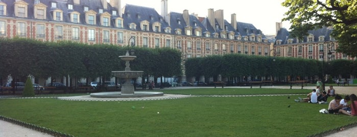 Place des Vosges is one of A night in Paris.
