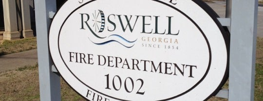 Roswell Fire Station 1 is one of Visit Roswell, GA.