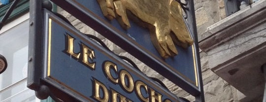 Le Cochon Dingue is one of I spy with my 4sq eye.