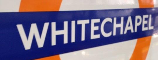 Whitechapel London Underground and London Overground Station is one of Tube Challenge.