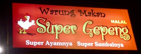 Warung Makan Super Gepeng is one of Pekalongan World of Batik.