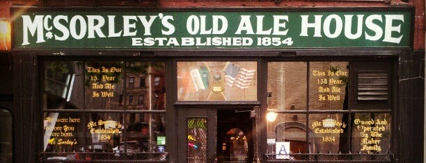 McSorley's Old Ale House is one of NYC.