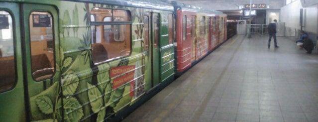Метро «Девяткино» (metro Devyatkino) is one of Метро Санкт-Петербурга.