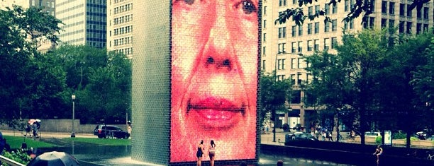 Crown Fountain is one of Chicago.