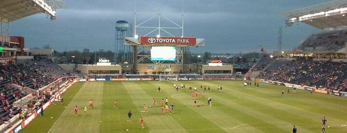 Toyota Park is one of การแข่งขันฟุตบอลนัดสำคัญ.