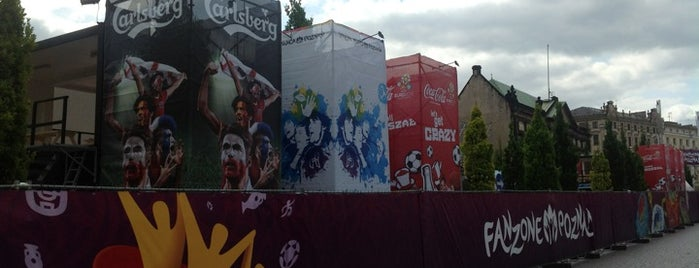 Fan zone: Plac Wolnosci (Freedom Square) is one of UEFA EURO 2012 Fan Zones.