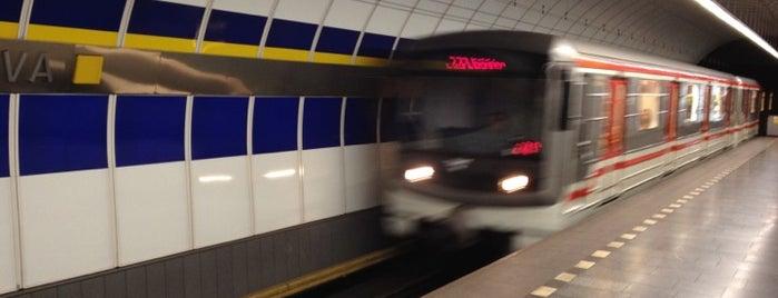 Metro =B= Kolbenova is one of Metro B.