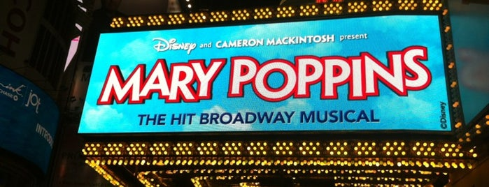 Disney's MARY POPPINS at the New Amsterdam Theatre is one of NYC Broadway Theatres.