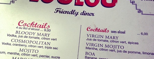 Loulou' Friendly Diner is one of Douceurs de Paris.