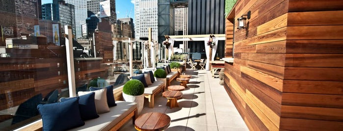 Haven at the Sanctuary Hotel is one of Day Drinking in the Great (NYC) Outdoors.