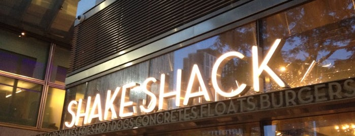 Shake Shack is one of 20 favorite restaurants.