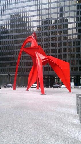 Alexander Calder's Flamingo Sculpture