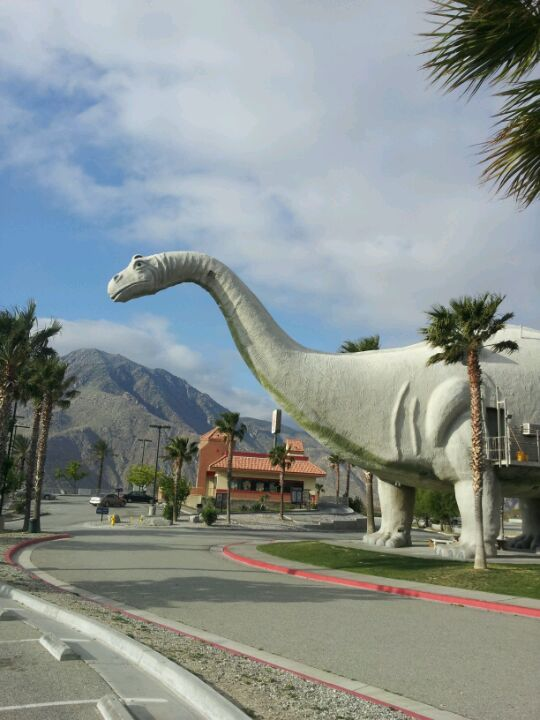 Left To Right 1 The Two Cabazon Dinosaurs
