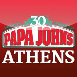 Papa Johns Pizza International, cheese stix,athens best pizza!,bread sticks,chicken poppers,delivery,great pizza!,pick up,soda,wings