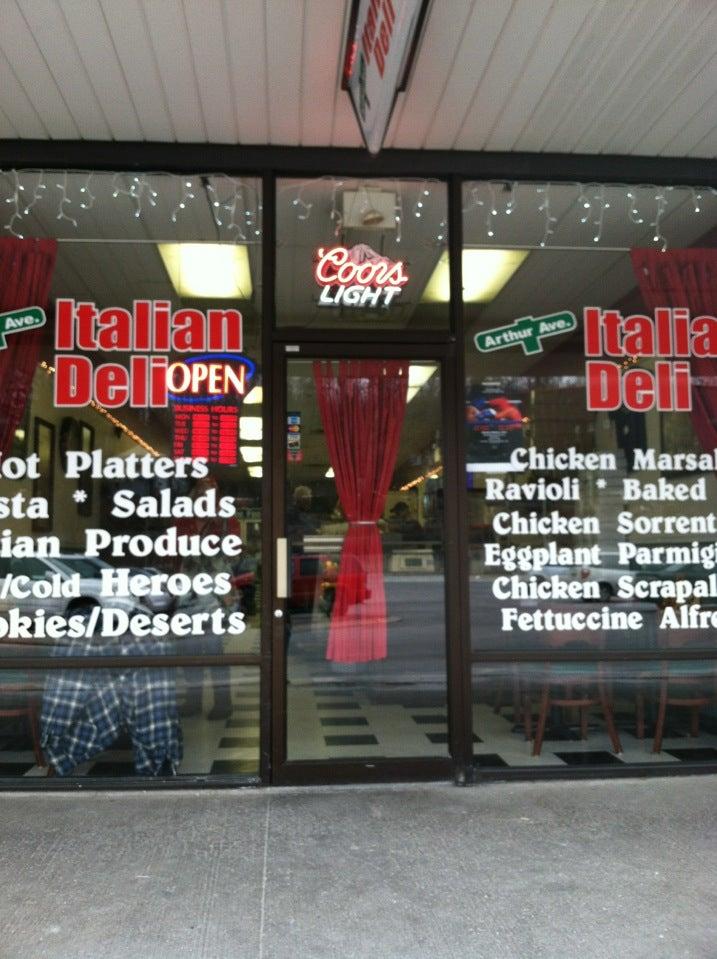 Arthur Ave Italian Deli, cannoli, chicken cutlet, expresso, meatball parm,pastrami