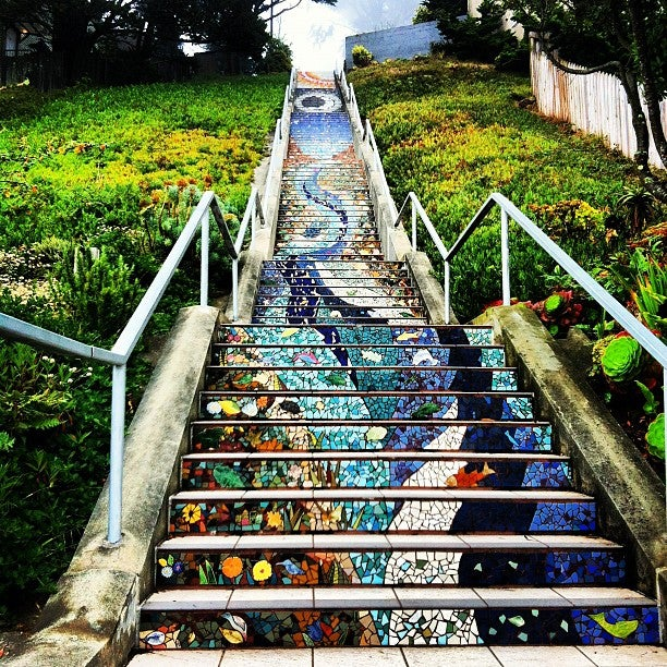Golden Gate Heights Mosaic Stairway