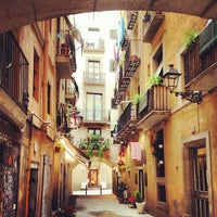 Barrio Gotico Area Of Barcelona