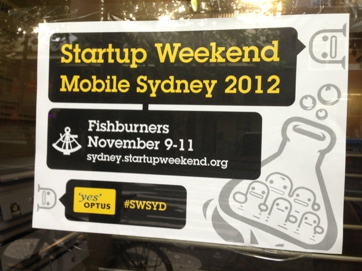 Start Up Weekend Sydney at Fishburners on Harris Street, Ultimo.