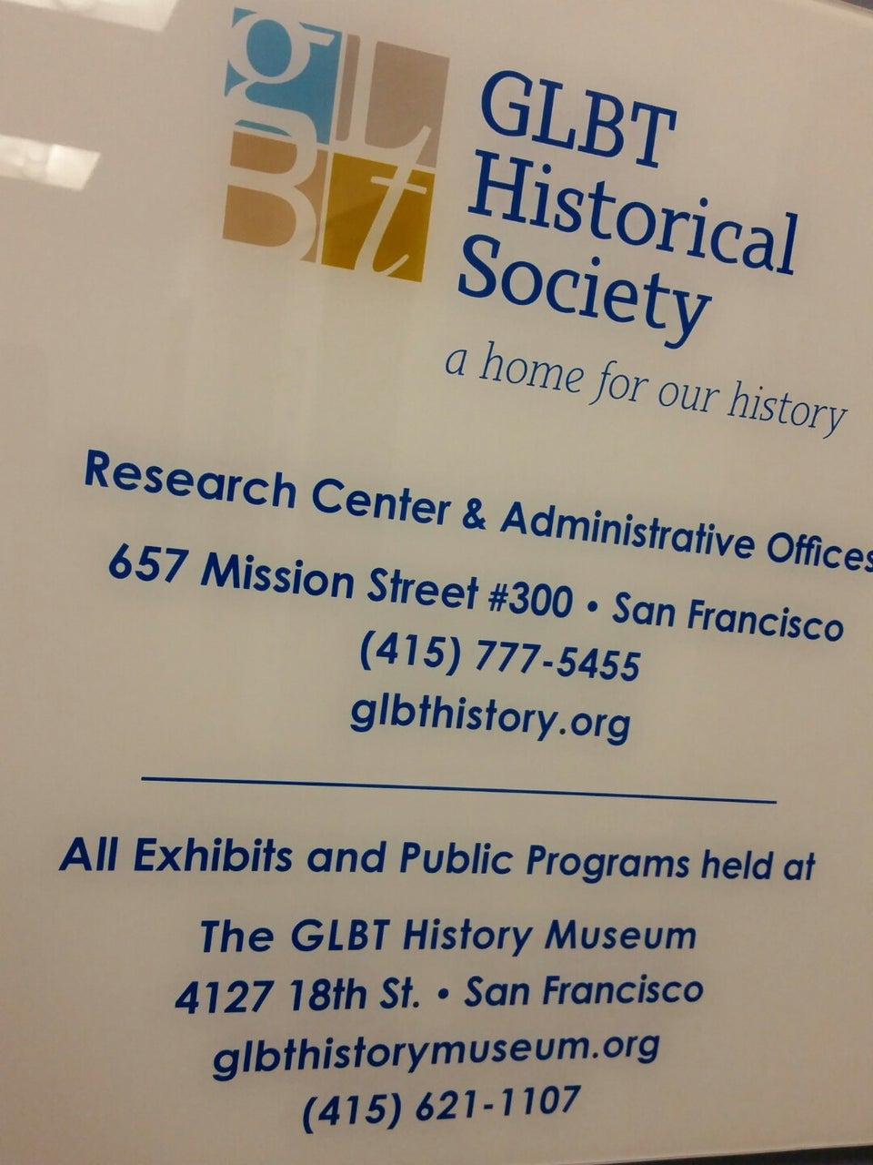Photo of The GLBT Historical Society Museum